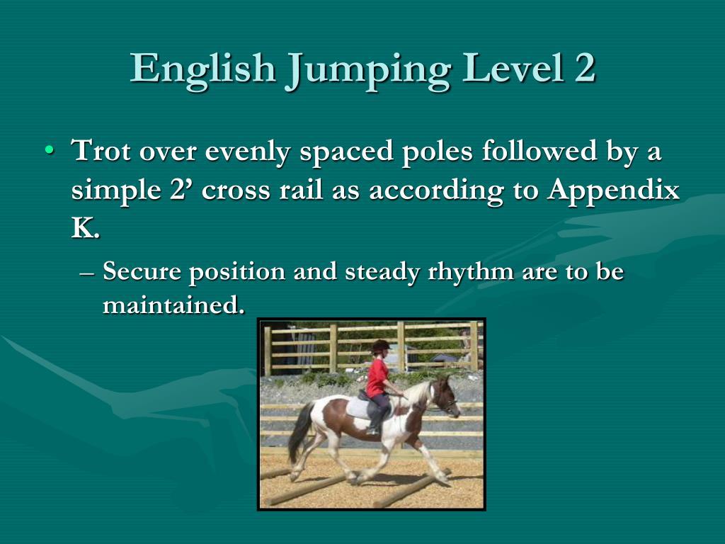 English Jumping Level 2