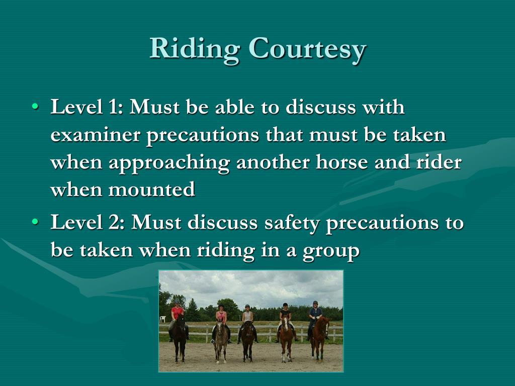 Riding Courtesy