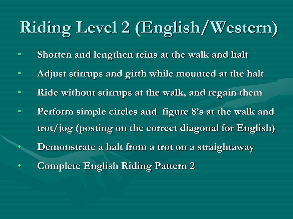 Riding Level 2 (English/Western)