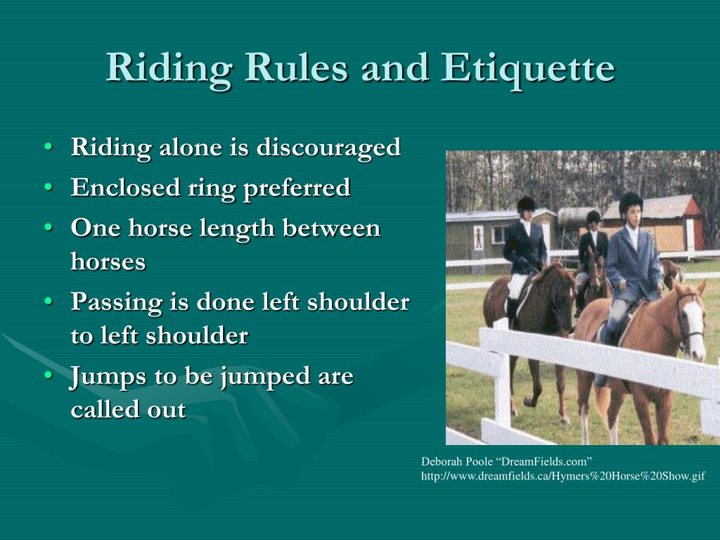 Riding Rules and Etiquette