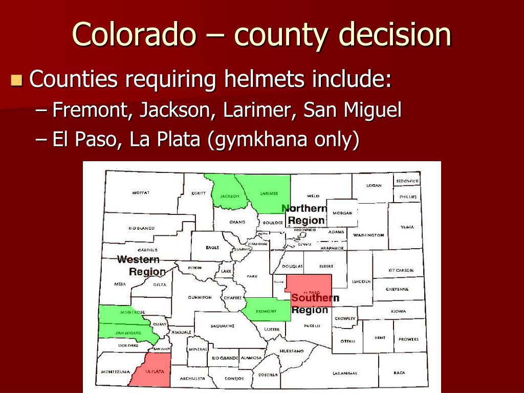 Colorado – county decision