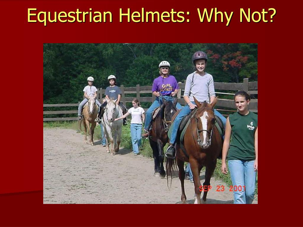 Equestrian Helmets: Why Not?