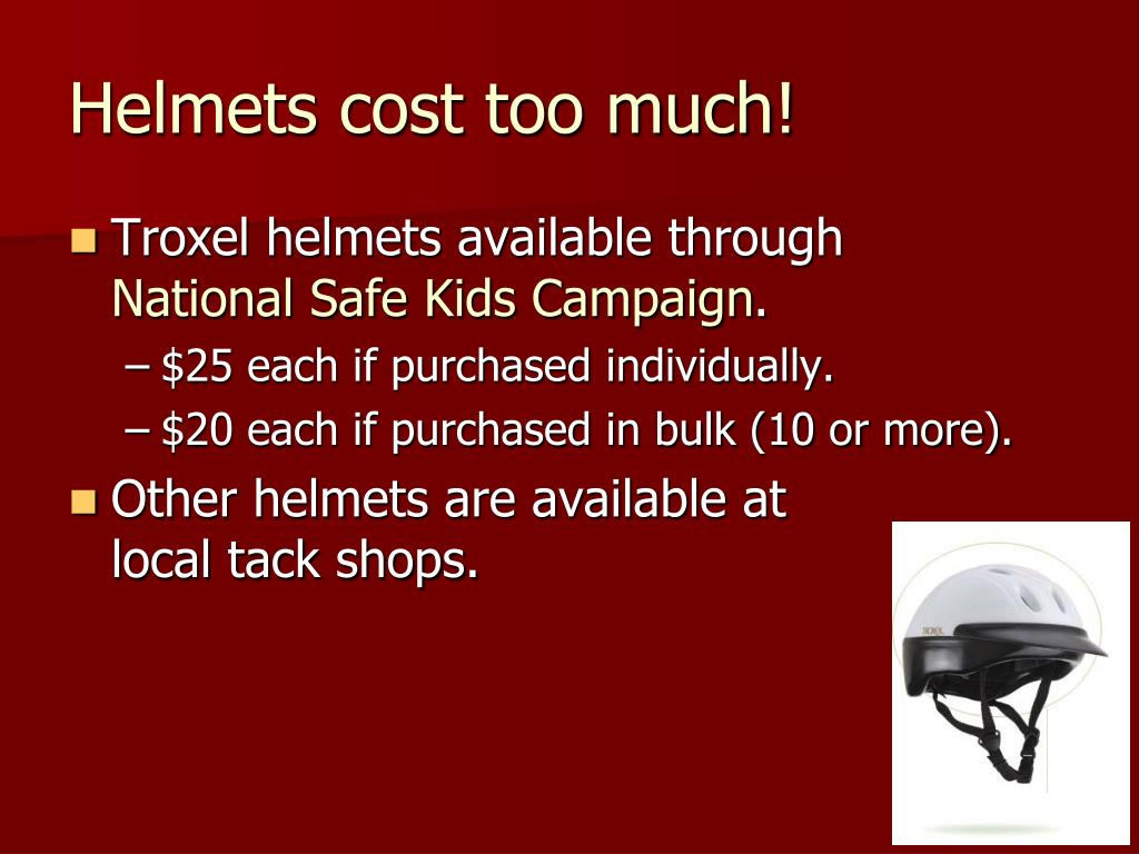 Helmets cost too much!