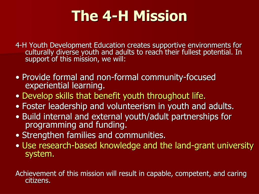 The 4-H Mission