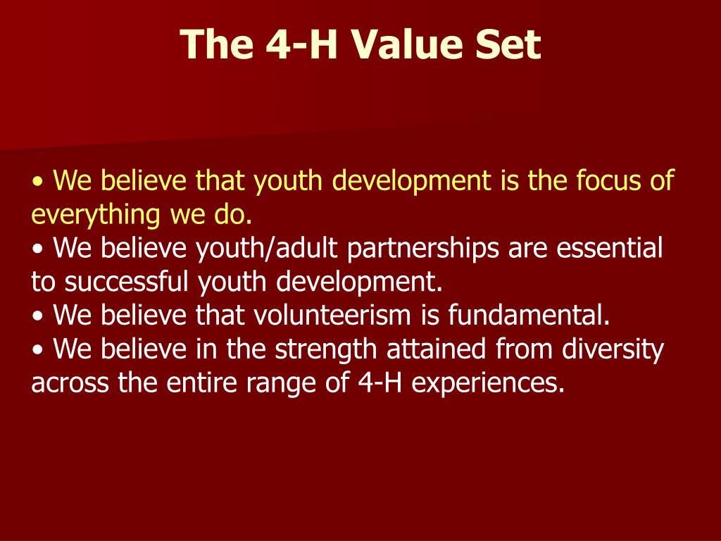 The 4-H Value Set