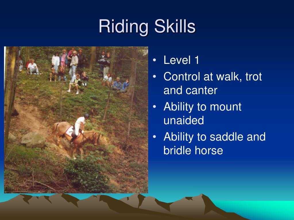 Riding Skills