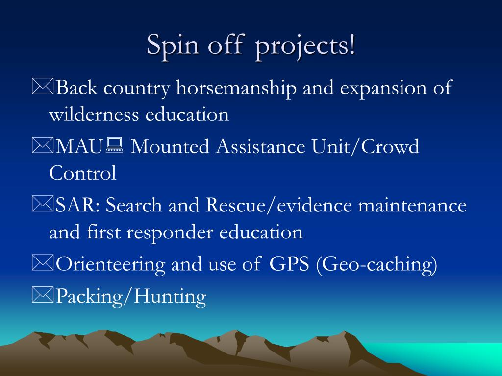 Spin off projects!