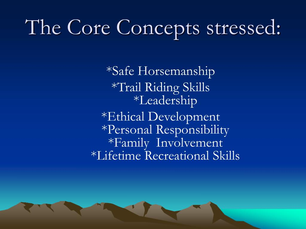 The Core Concepts stressed: