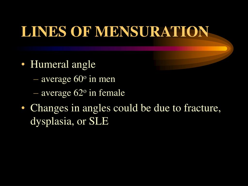 LINES OF MENSURATION