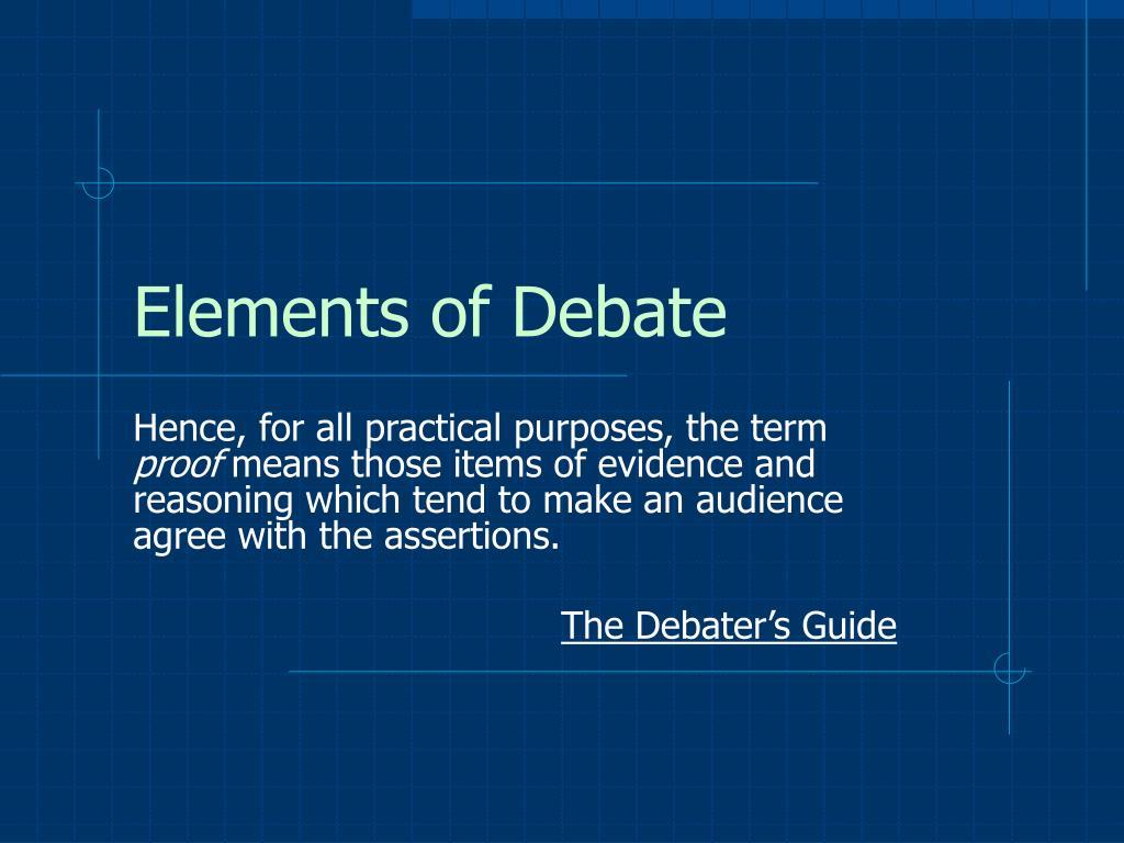 Elements of Debate