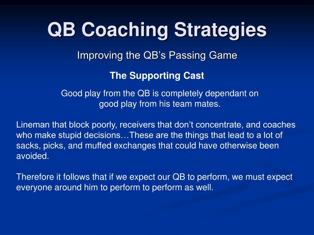 QB Coaching Strategies