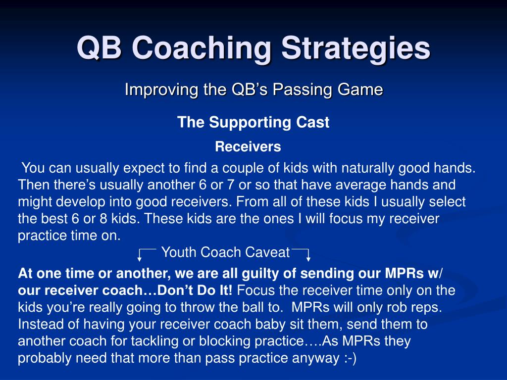 Youth Coach Caveat