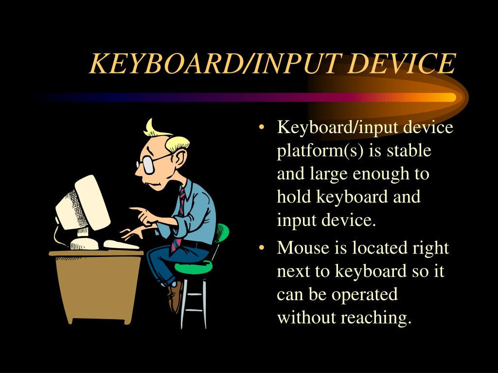 an input device keyboard The devices which we use to give the command to a computer to perform certain functions are called input devices of a computer keyboard the most common input device of a computer is a keyboard which is used to give instructions to the cpu.
