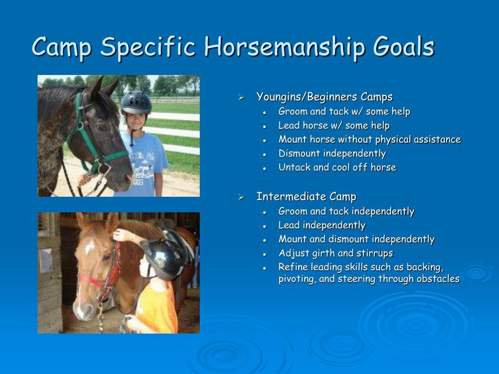 Camp Specific Horsemanship Goals
