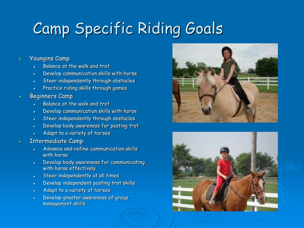 Camp Specific Riding Goals