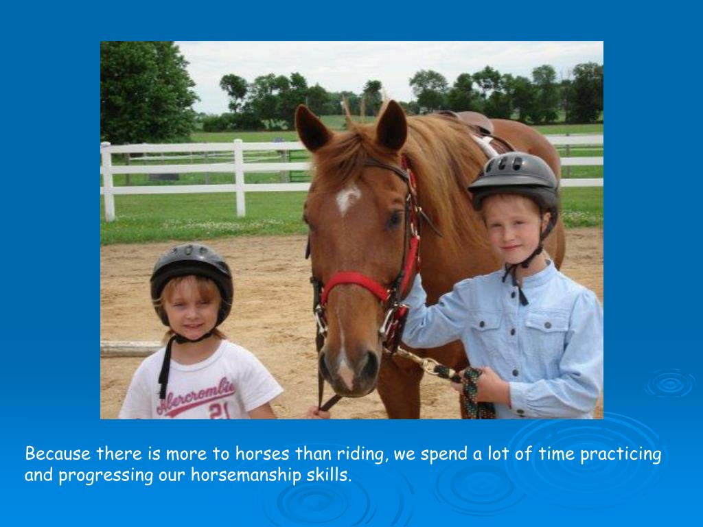 Because there is more to horses than riding, we spend a lot of time practicing and progressing our horsemanship skills.