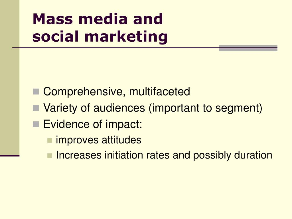 Mass media and