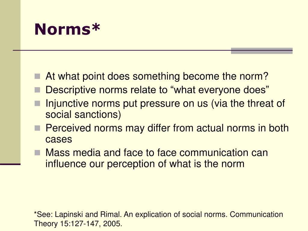Norms*