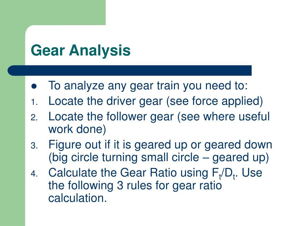 Gear Analysis