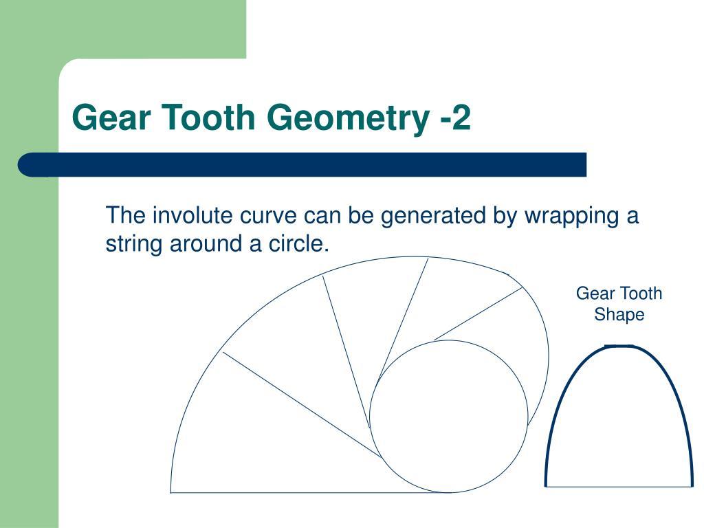 Gear Tooth Geometry -2