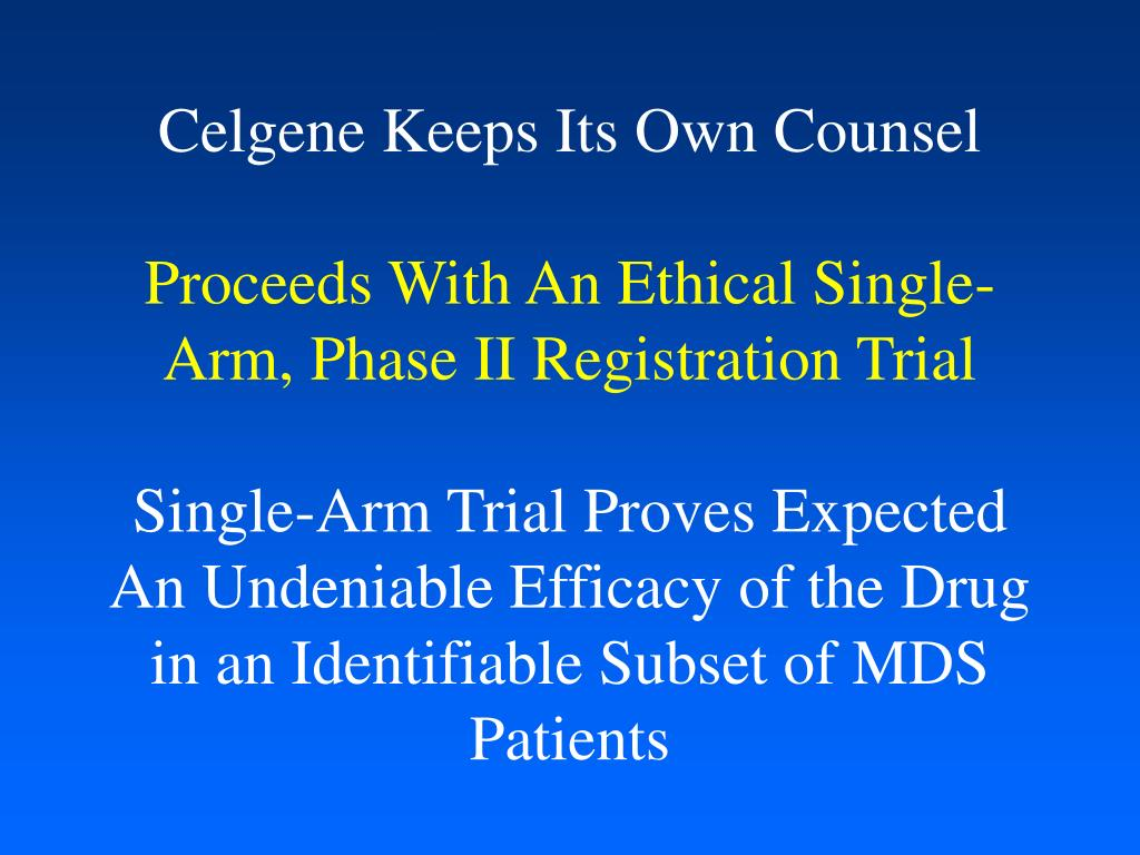 Celgene Keeps Its Own Counsel