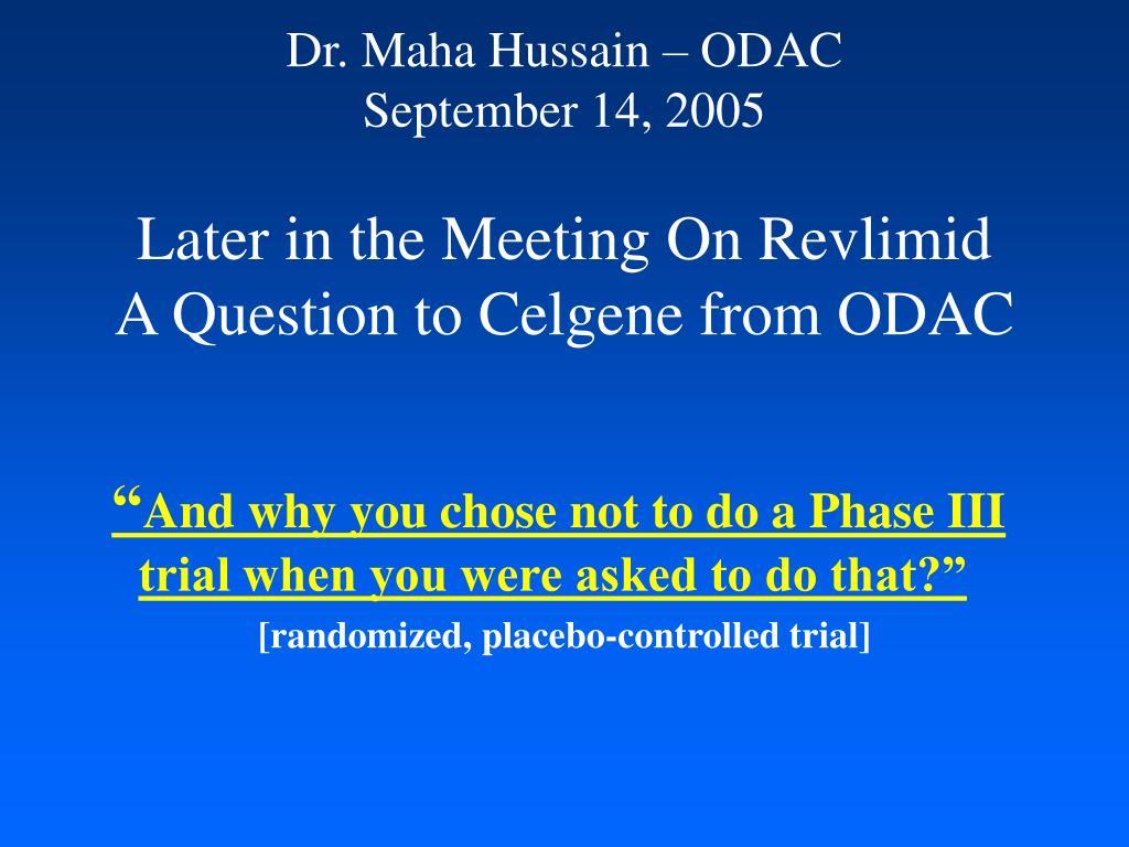 Dr. Maha Hussain – ODAC