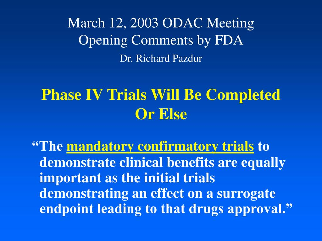 March 12, 2003 ODAC Meeting