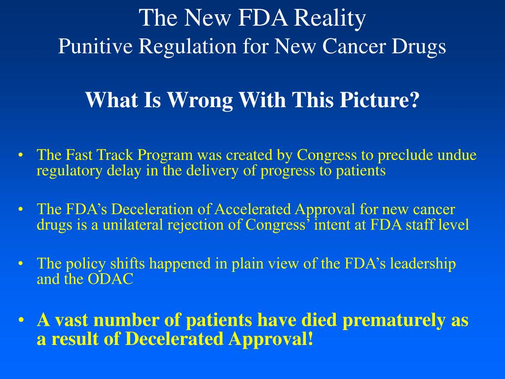 The New FDA Reality