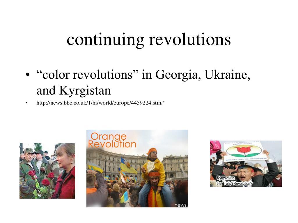continuing revolutions