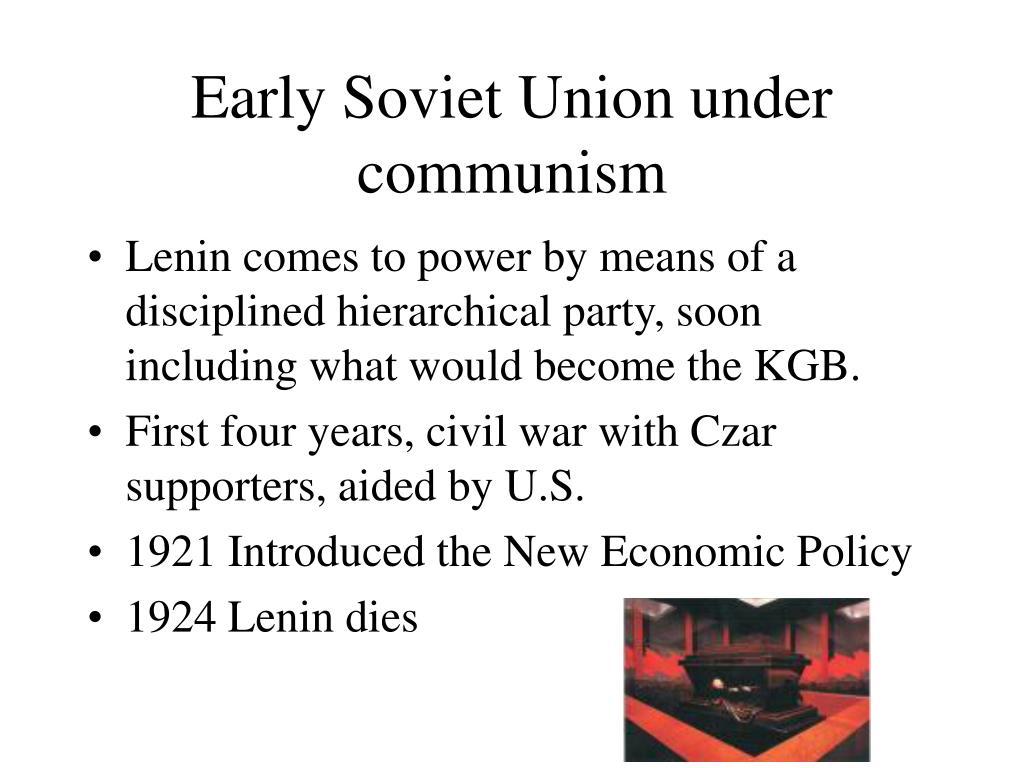 Early Soviet Union under communism