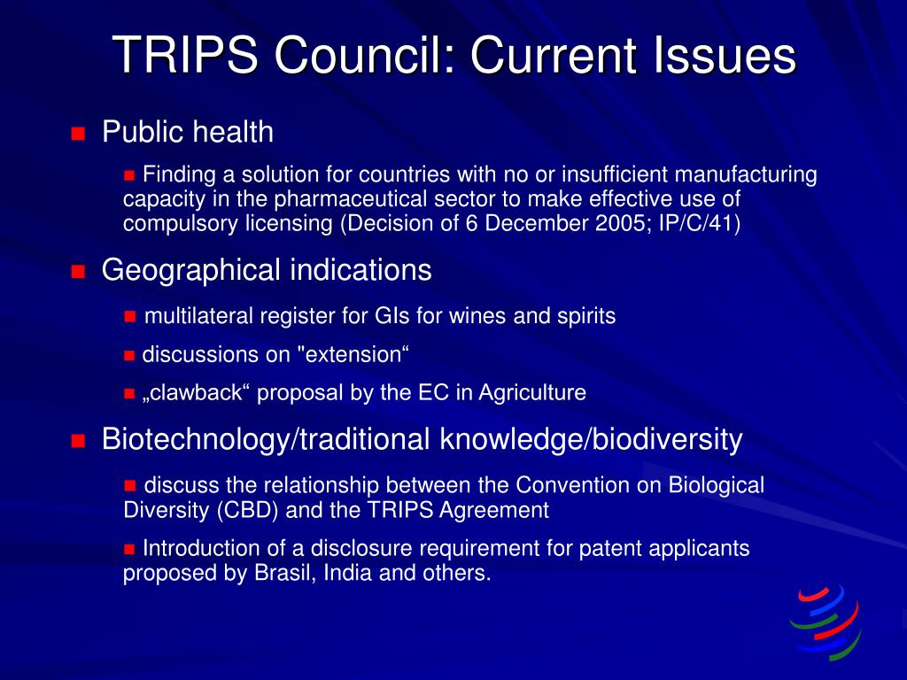 TRIPS Council: Current Issues