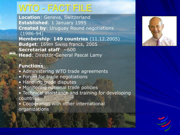 Wto fact file