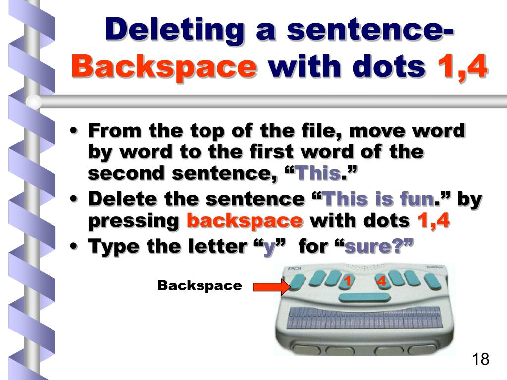 Deleting a sentence-