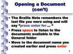 opening a document con t6