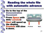 reading the whole file with automatic advance