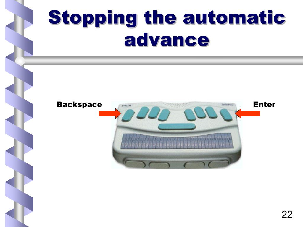 Stopping the automatic advance