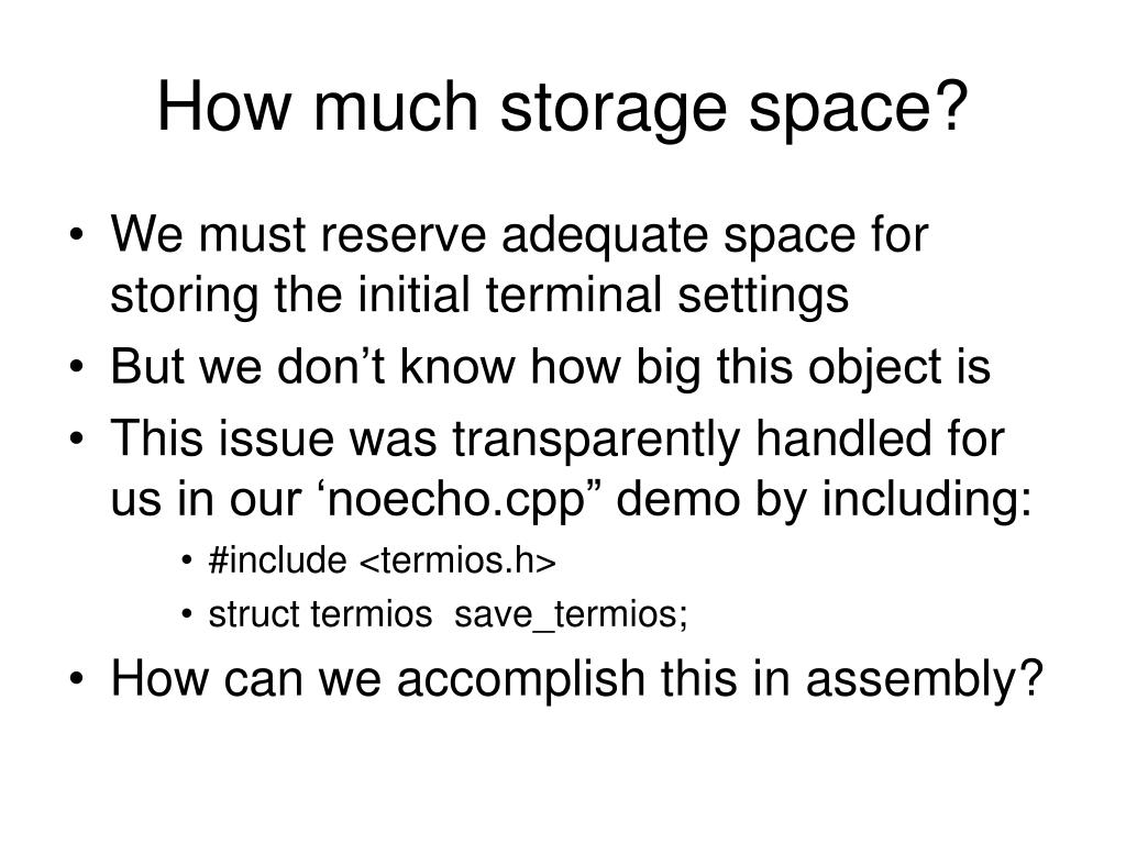 How much storage space?