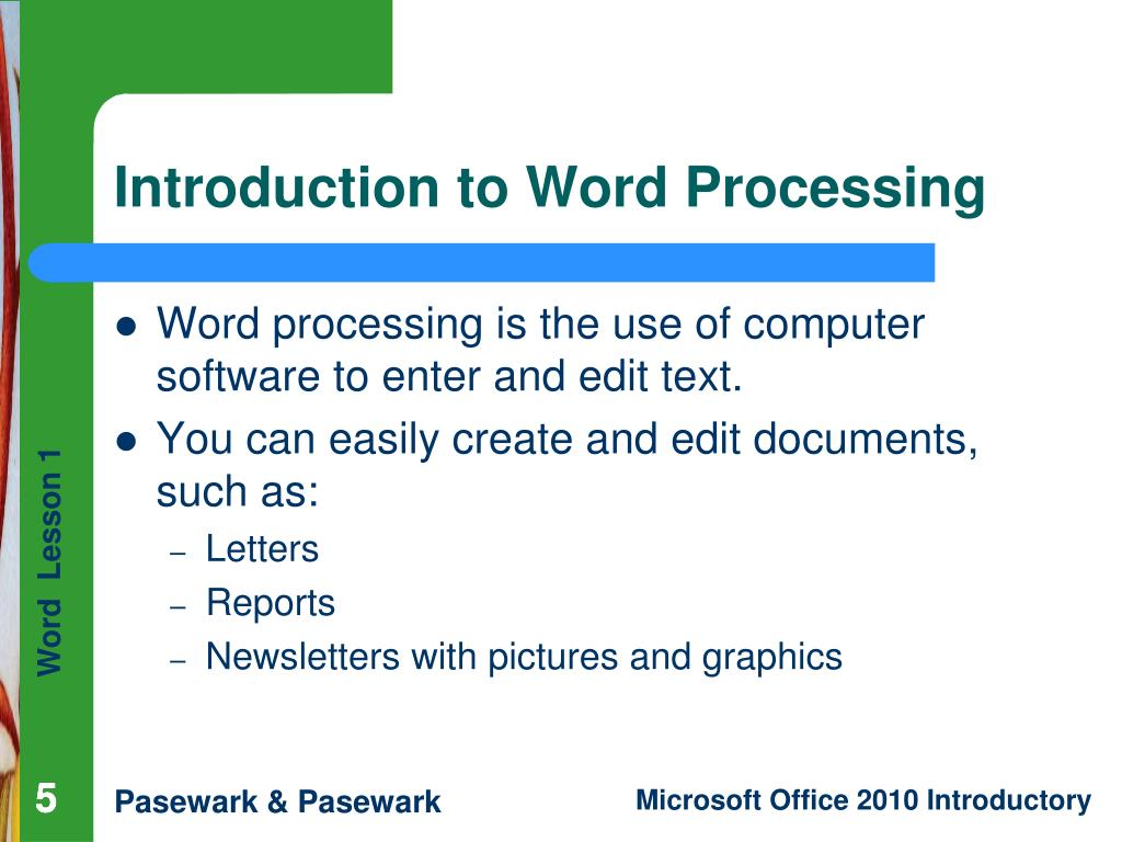 Introduction to Word Processing