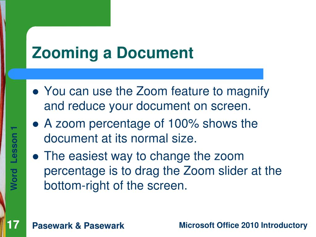 Zooming a Document