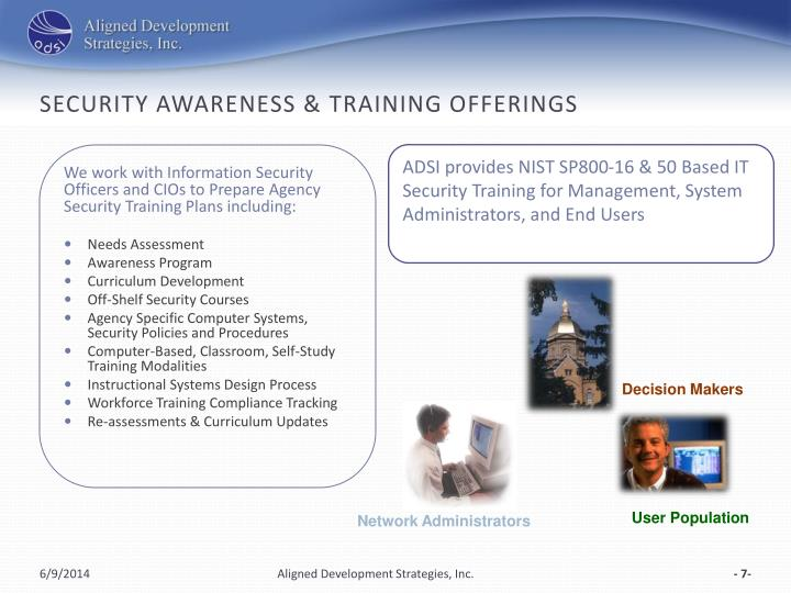 Security Awareness & Training Offerings