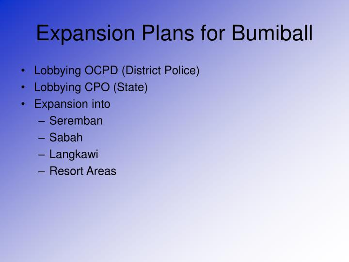 Expansion Plans for Bumiball