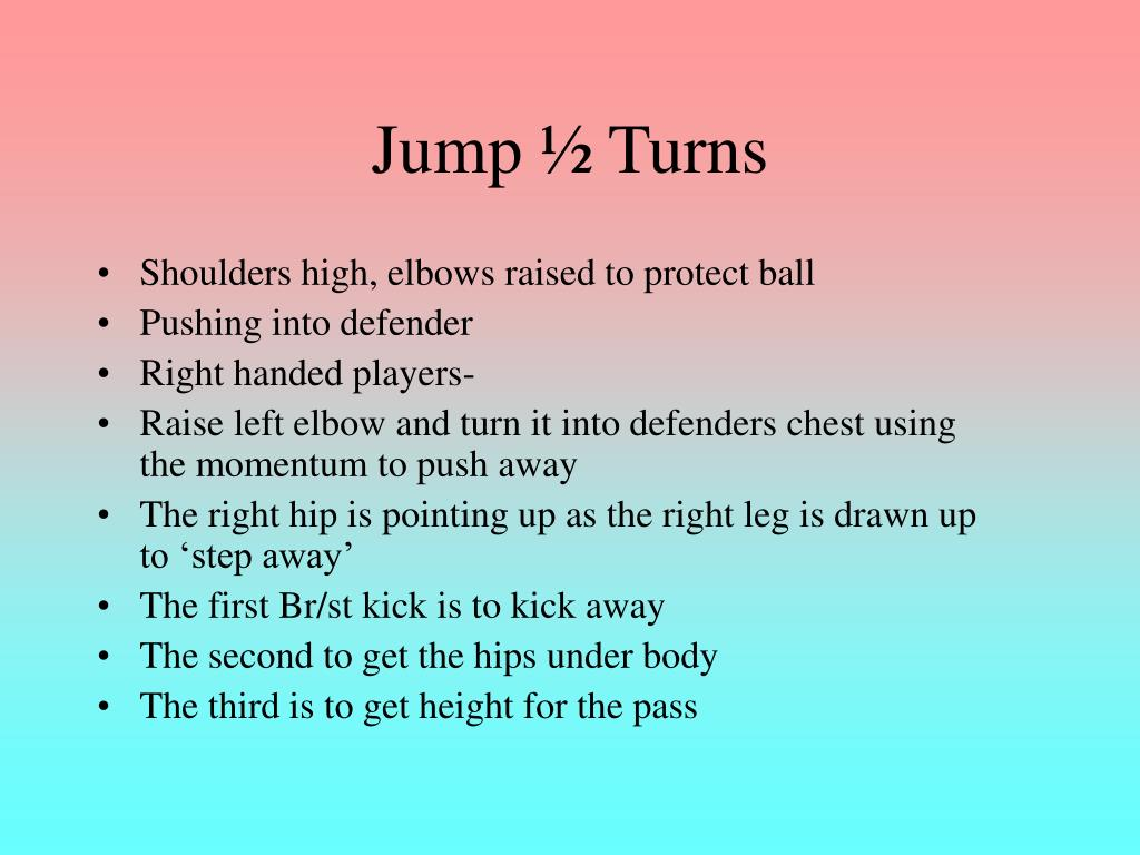 Jump ½ Turns