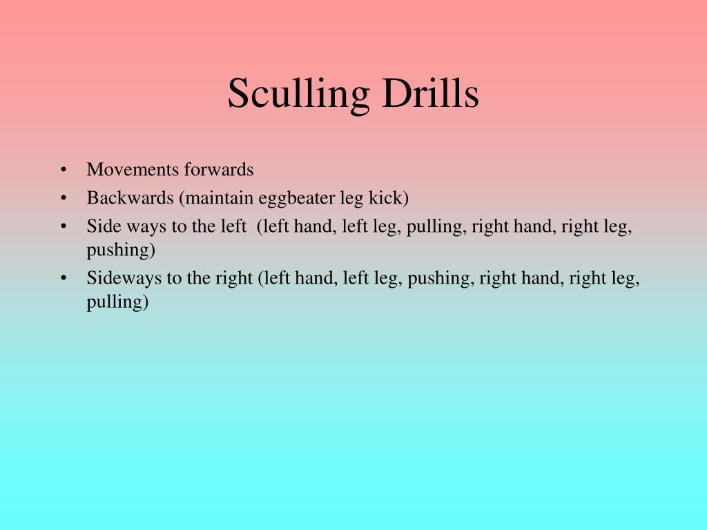 Sculling Drills