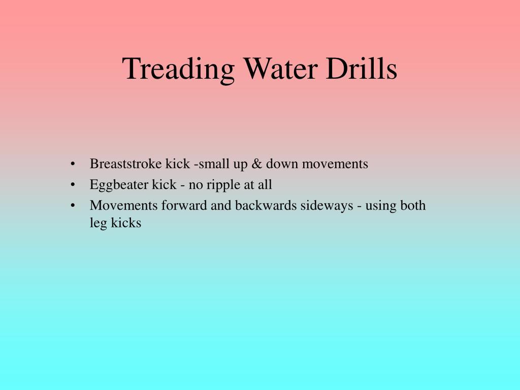 Treading Water Drills