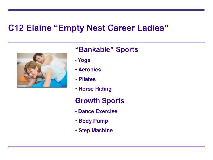 """C12 Elaine """"Empty Nest Career Ladies"""""""