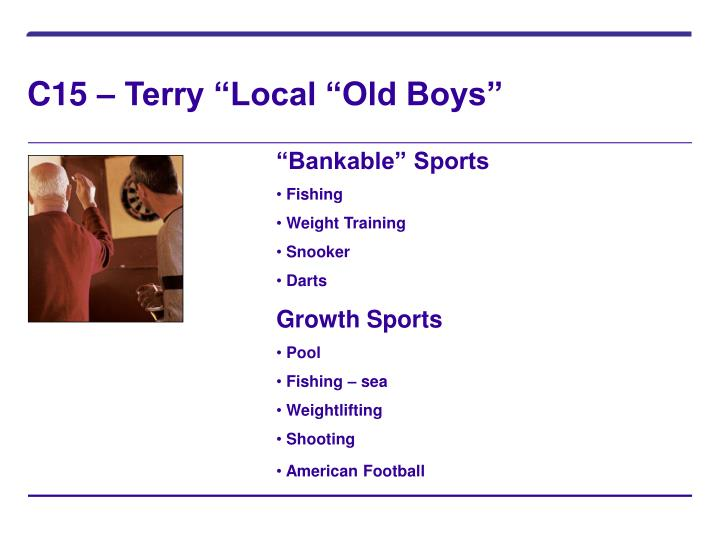 """C15 – Terry """"Local """"Old Boys"""""""