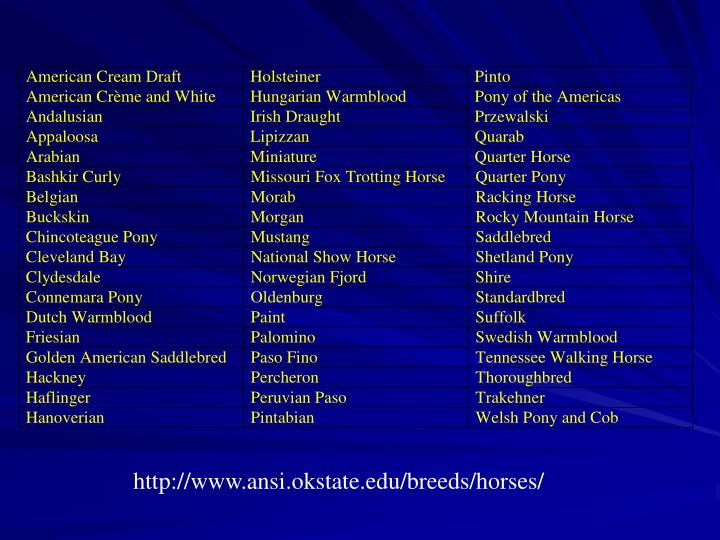 http://www.ansi.okstate.edu/breeds/horses/