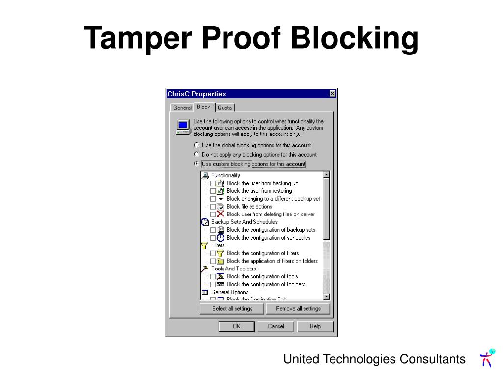 Tamper Proof Blocking