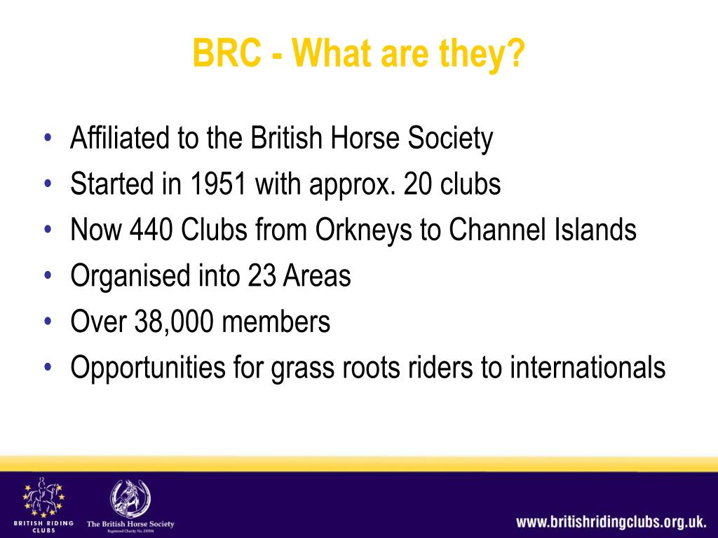 Affiliated to the British Horse Society