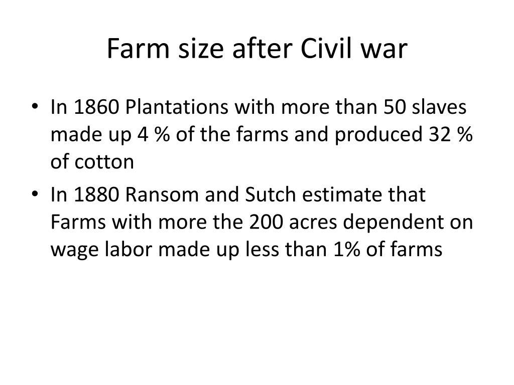 Farm size after Civil war